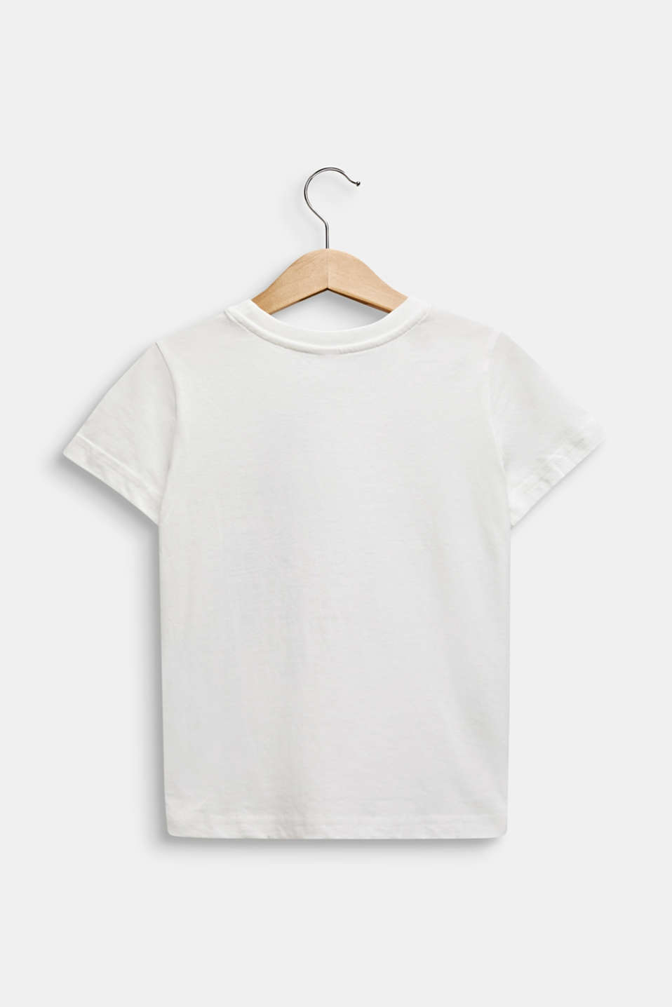 Front print T-shirt, 100% cotton, OFF WHITE, detail image number 1