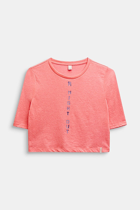 Boxy neon T-shirt with a statement print