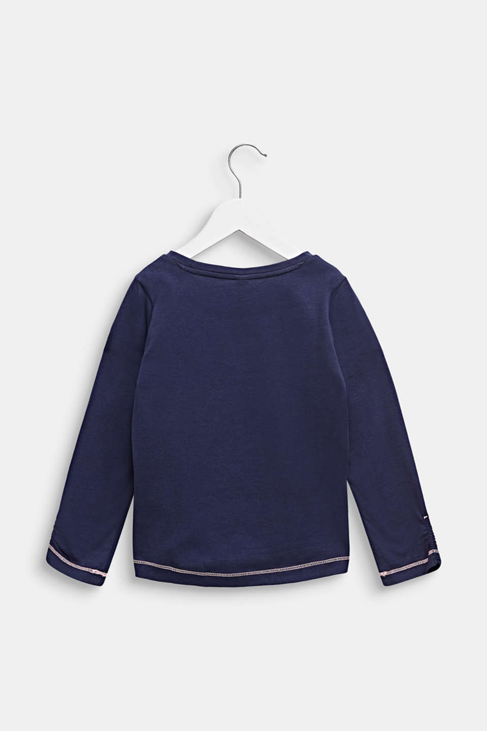 Long sleeve T-shirt with glitter print this, 100% cotton, MIDNIGHT BLUE, detail image number 1