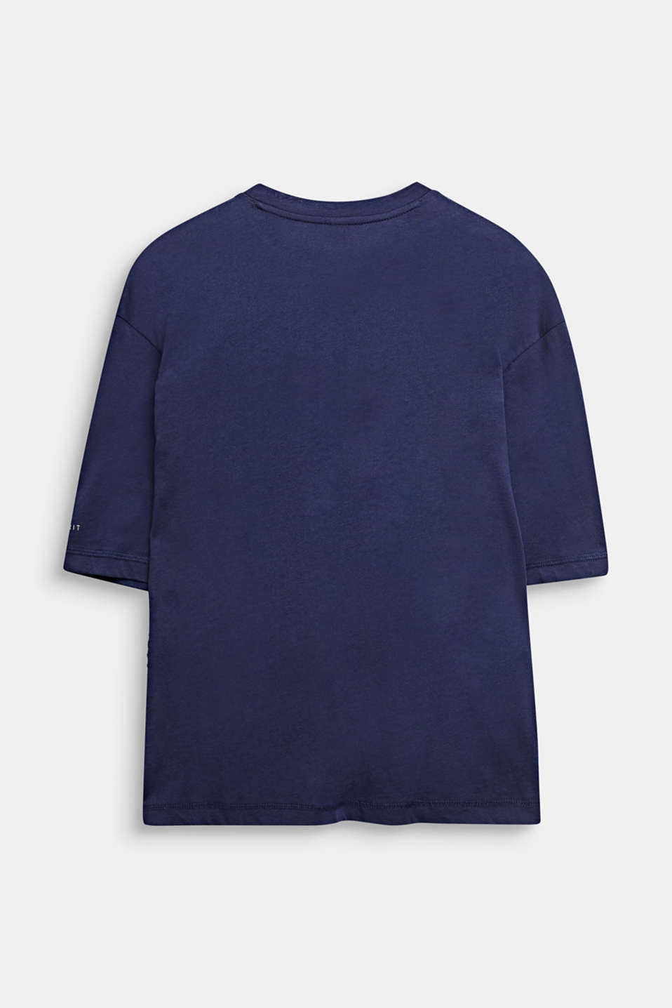 T-shirt with a zip detail, 100% cotton, LCMIDNIGHT BLUE, detail image number 1