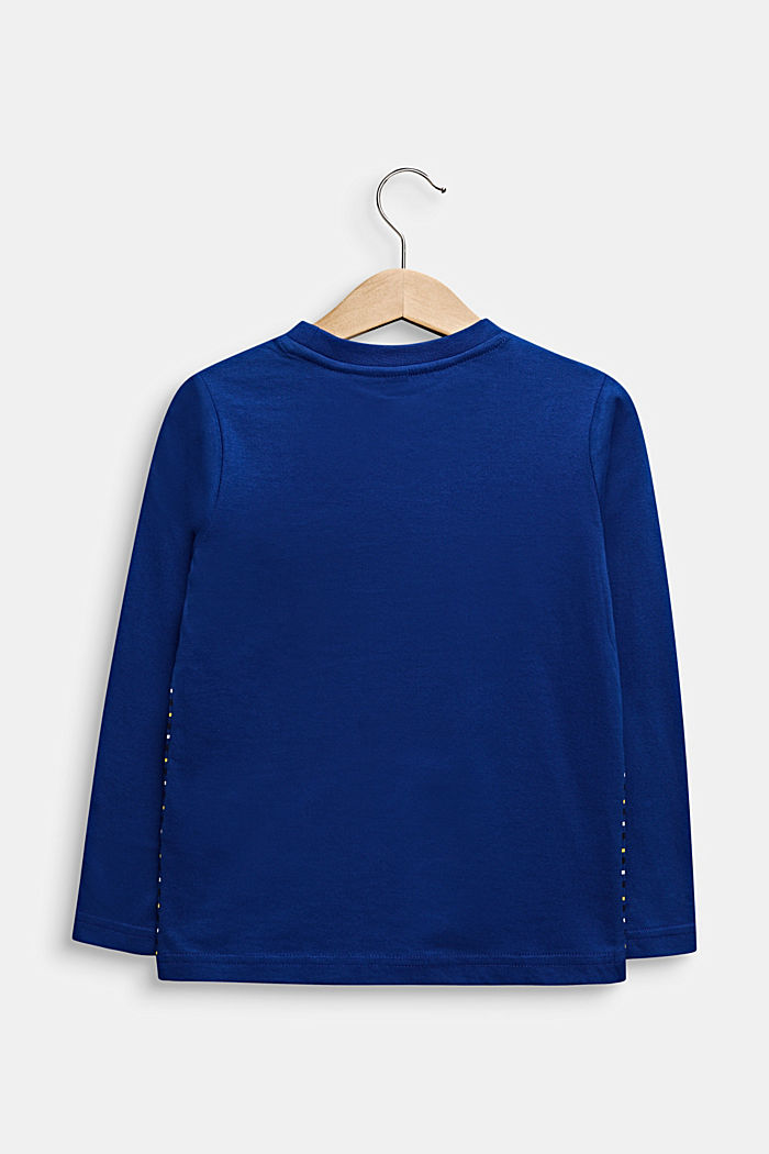 Longlseeve mit Streifen, 100% Baumwolle, INFINITY BLUE, detail image number 1