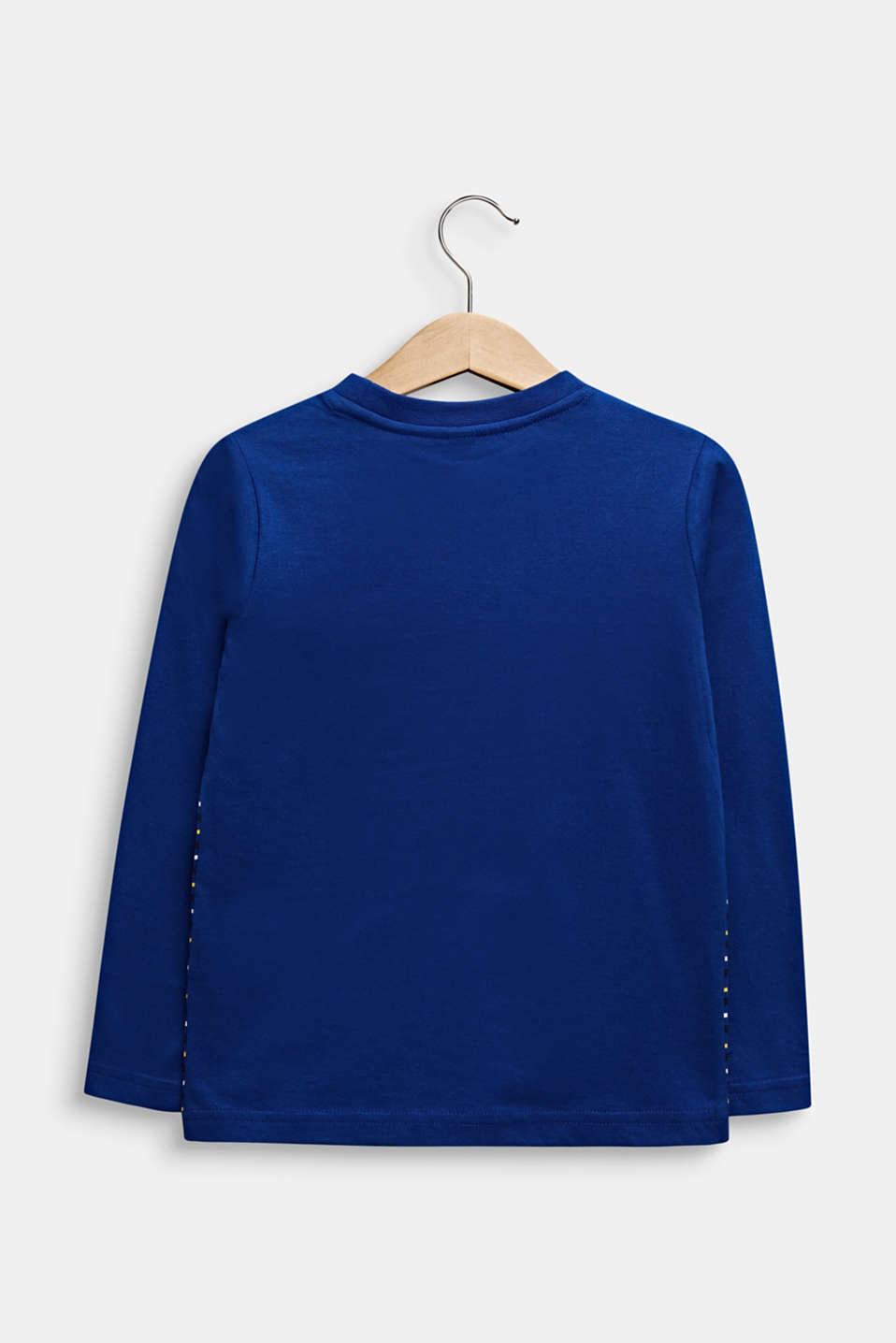 Long sleeve top with stripes, 100% cotton, INFINITY BLUE, detail image number 1