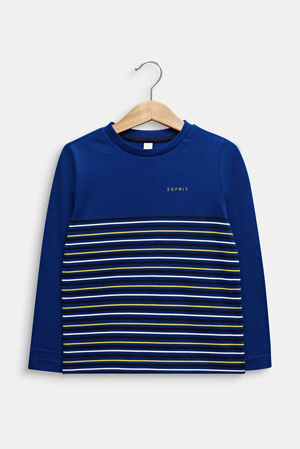 Long sleeve top with stripes, 100% cotton