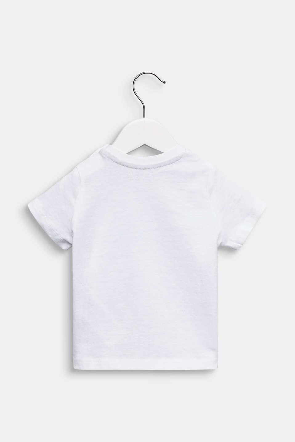 Front print T-shirt, 100% cotton, LCWHITE, detail image number 1