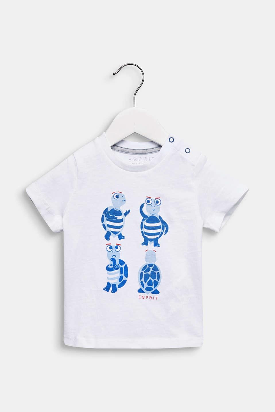 Front print T-shirt, 100% cotton, LCWHITE, detail image number 0