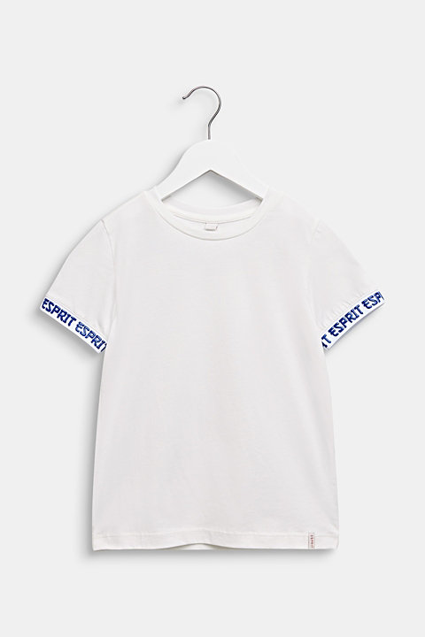 T-shirt with stretchy logo borders