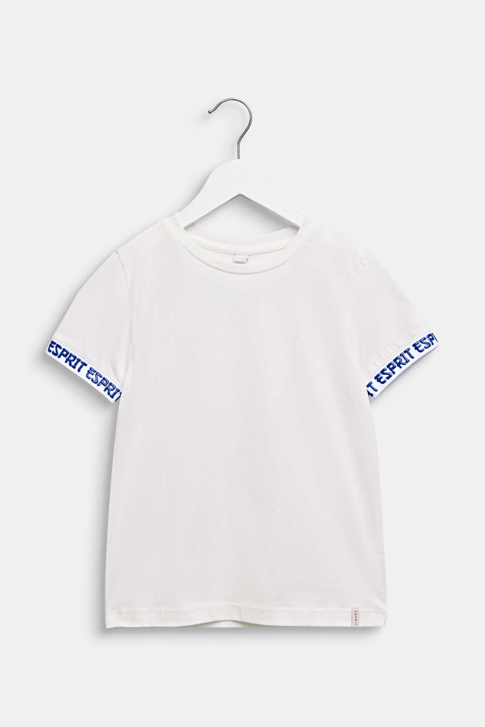 T-shirt with stretchy logo borders, OFF WHITE, detail image number 0
