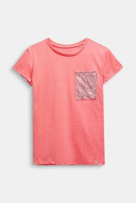Neon T-shirt with sequins, LCNEON PINK, detail