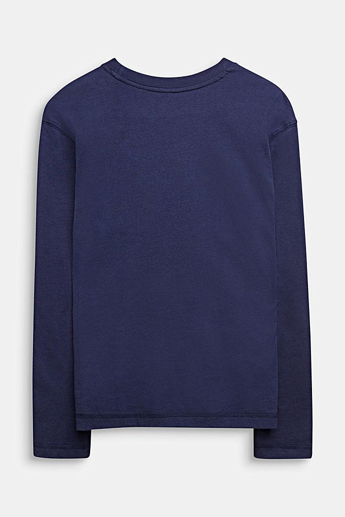 Långärmad topp med fototryck, 100% bomull , LCMIDNIGHT BLUE, detail image number 1