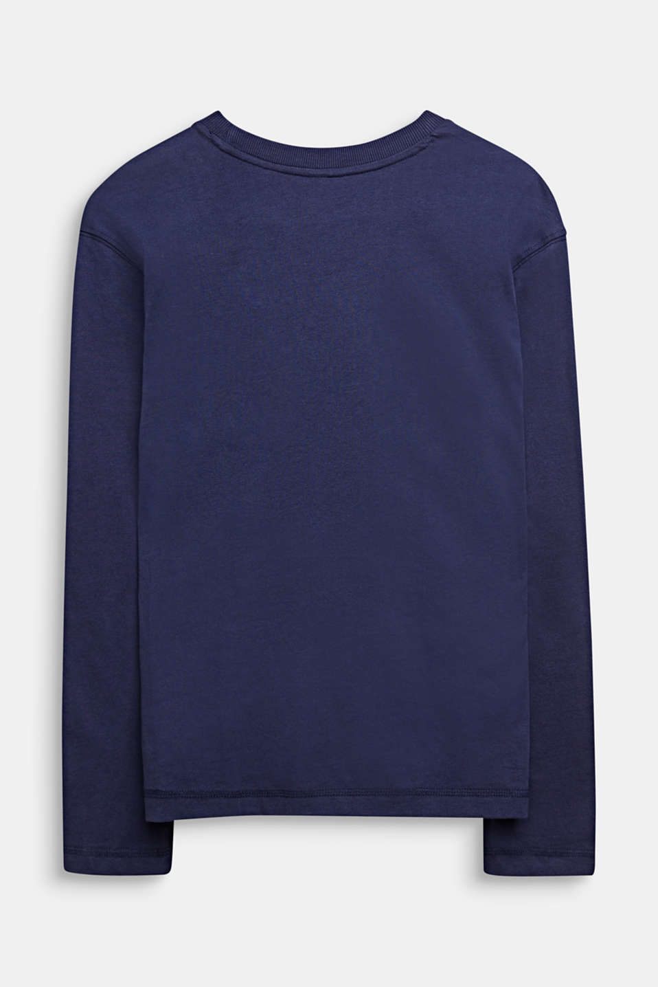 Long sleeve top with a photo print, 100% cotton , LCMIDNIGHT BLUE, detail image number 1
