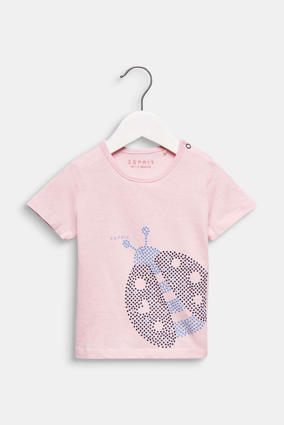 T-shirt with ladybird print, 100% cotton, LCLIGHT PINK, detail image number 0