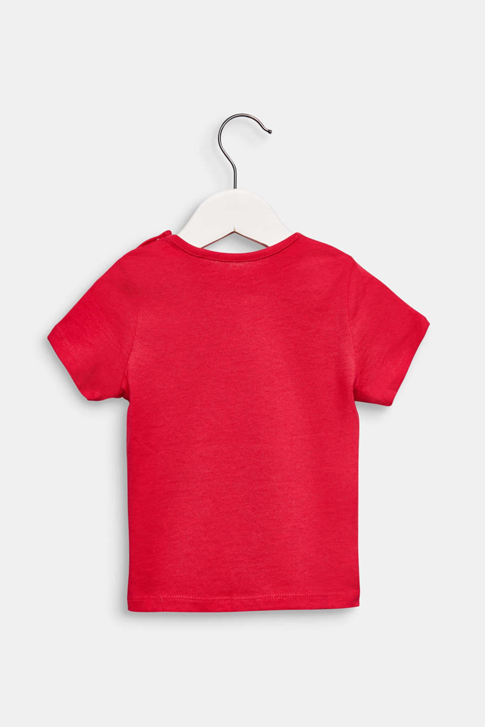 T-shirt with ladybird print, 100% cotton, LCRASPBERRY, detail image number 1
