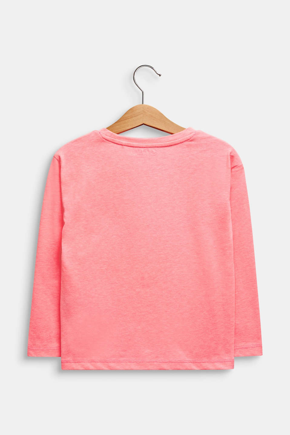 Printed long sleeve jumper with sequins, NEON PINK, detail image number 1