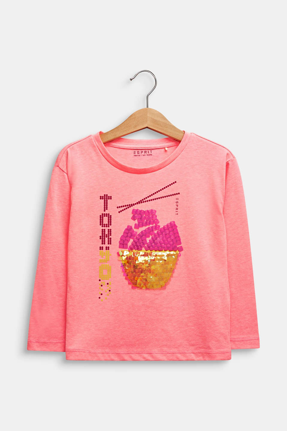 Printed long sleeve jumper with sequins