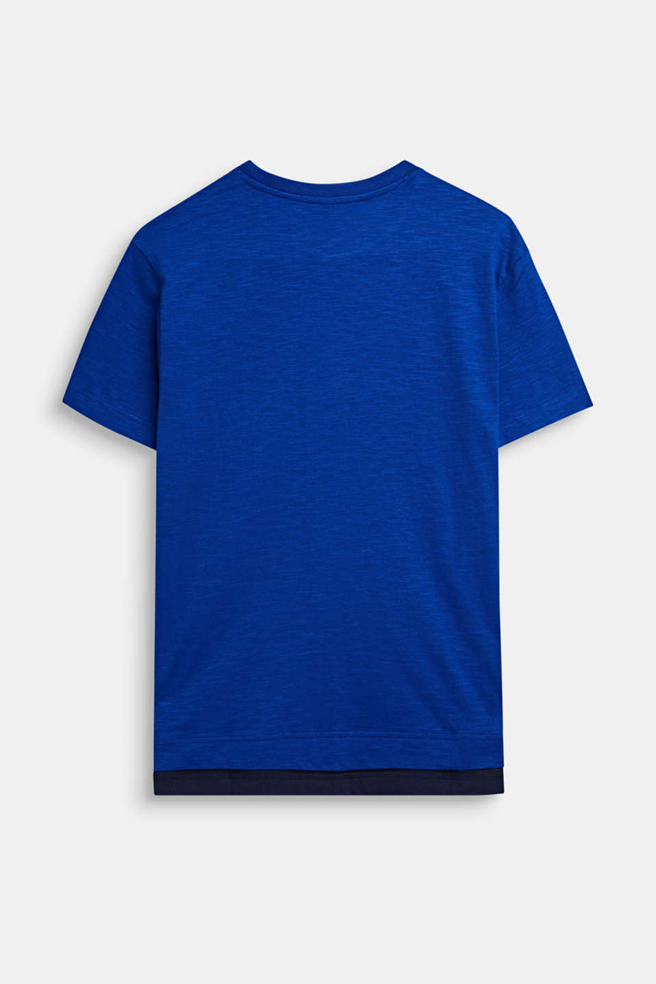 Slub T-shirt in a layered style, LCINFINITY BLUE, detail image number 1