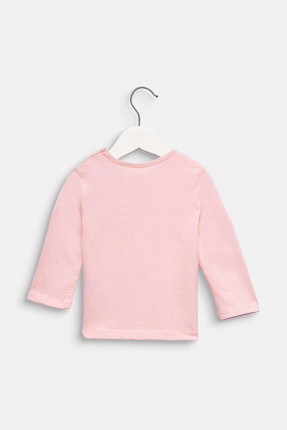 Printed long sleeve top, 100% cotton, LCLIGHT PINK, detail image number 1