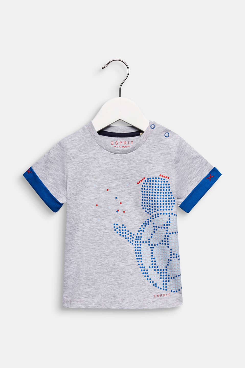 Printed T-shirt, 100% cotton, LCHEATHER SILVER, detail image number 0