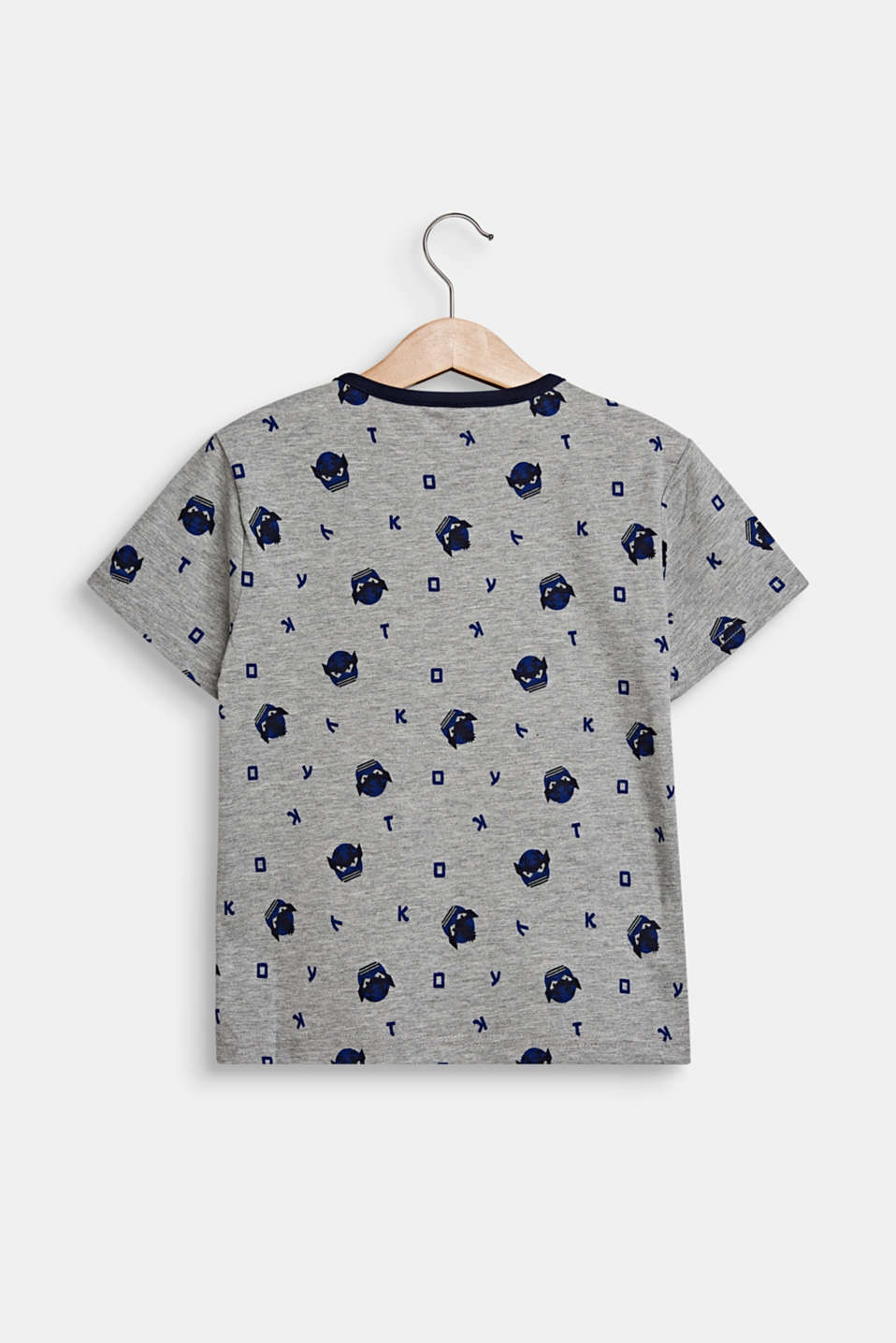 T-shirt with an all-over print, MID HEATHER GR, detail image number 1