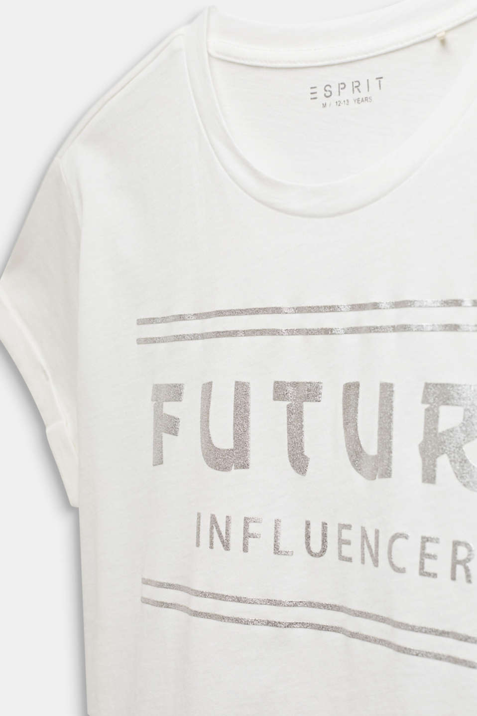 Boxy T-shirt with a shiny print, LCOFF WHITE, detail image number 2