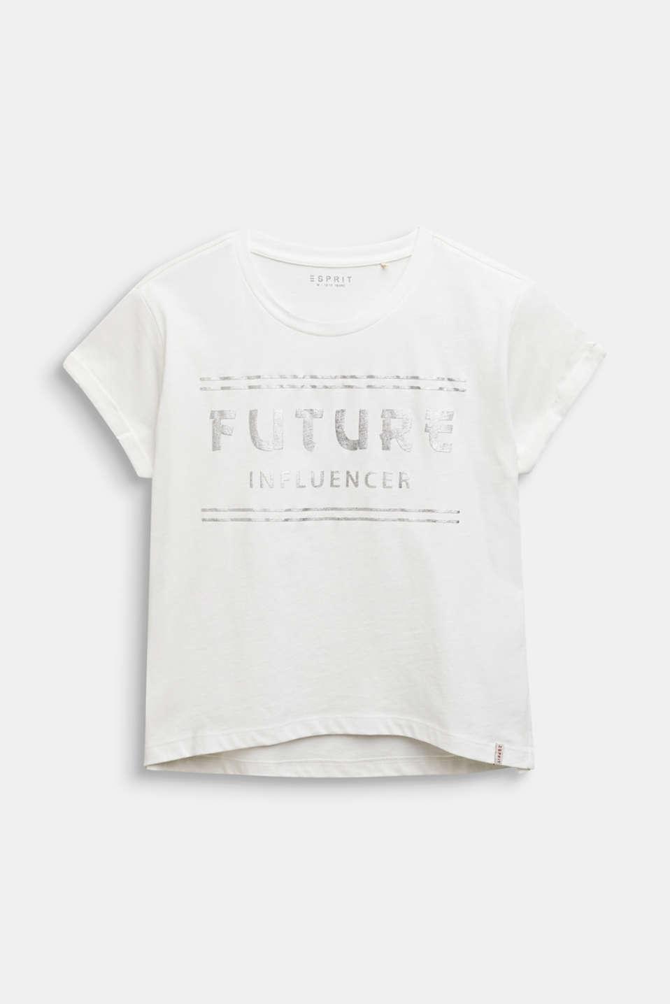 Boxy T-shirt with a shiny print