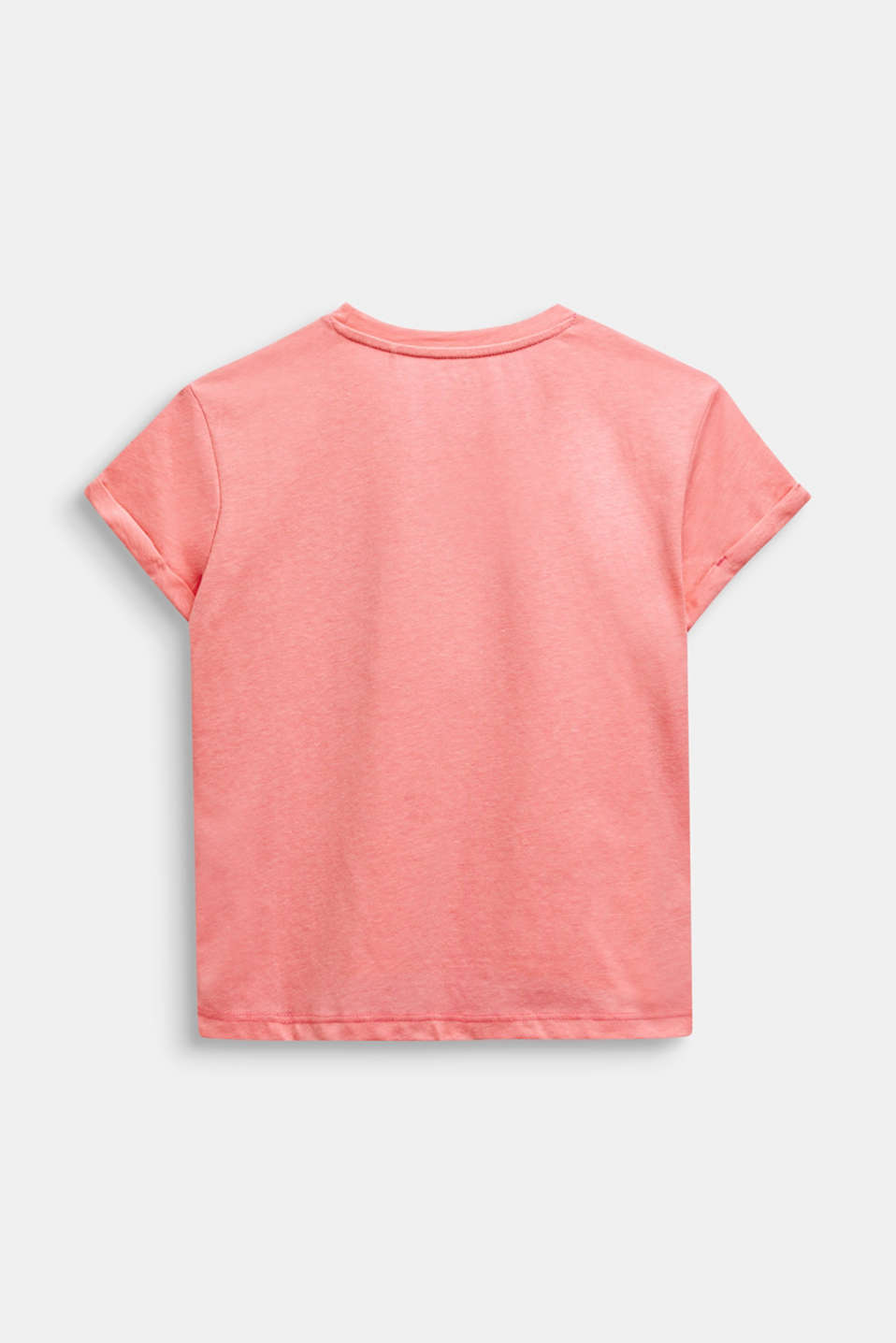 Boxy T-shirt with a shiny print, LCNEON PINK, detail image number 1