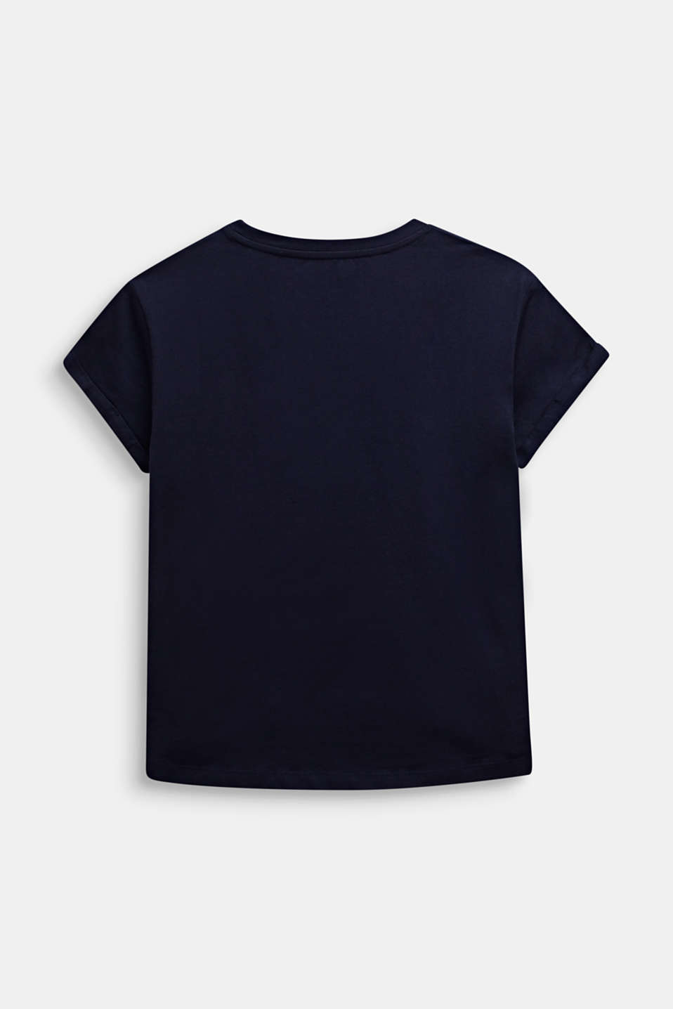 Boxy T-shirt with a shiny print, LCMIDNIGHT BLUE, detail image number 1