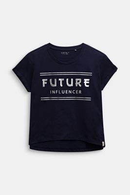 Boxy T-shirt with a shiny print, LCMIDNIGHT BLUE, detail