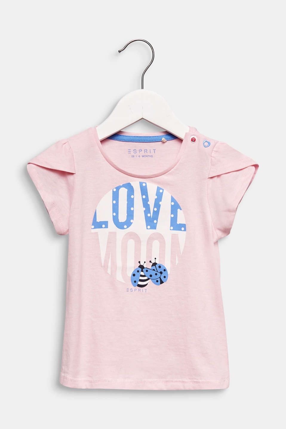 Front print T-shirt, 100% cotton, LCLIGHT PINK, detail image number 0