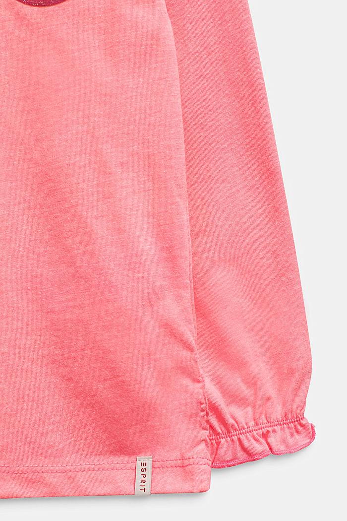 NEON Longsleeve mit Glitter-Print, NEON PINK, detail image number 3