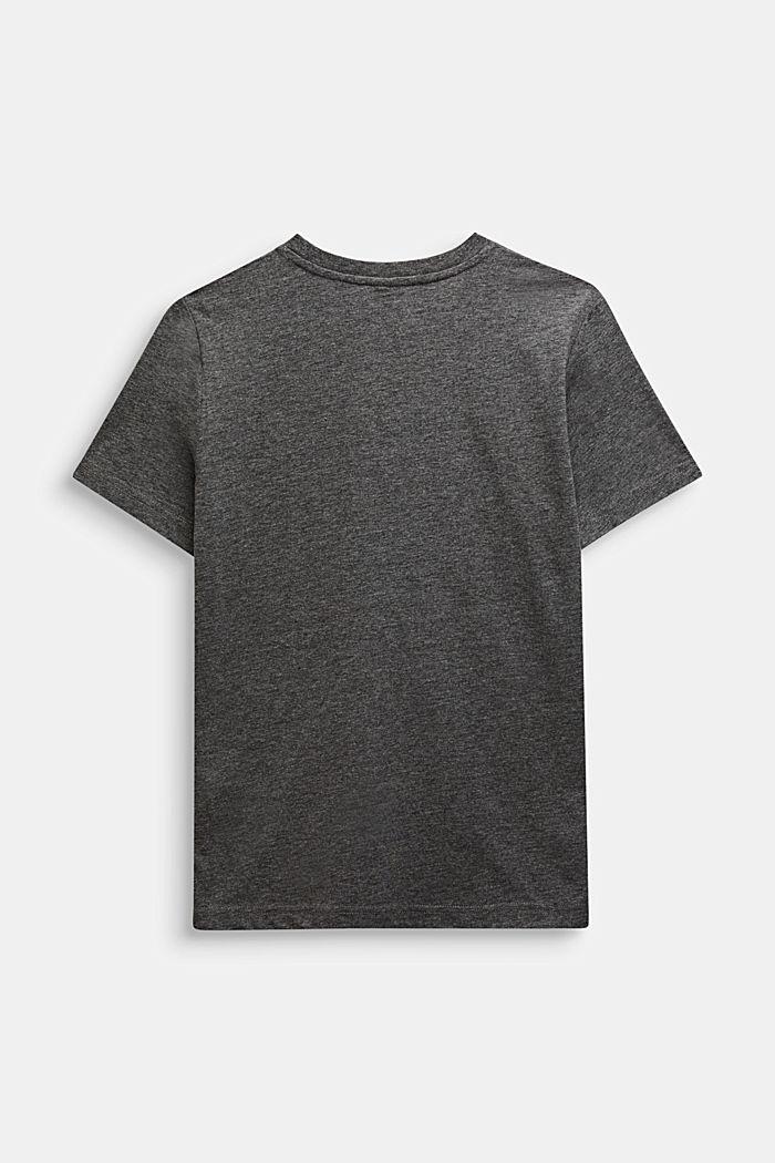 Meliertes T-Shirt mit Wende-Pailletten, DARK HEATHER GREY, detail image number 1