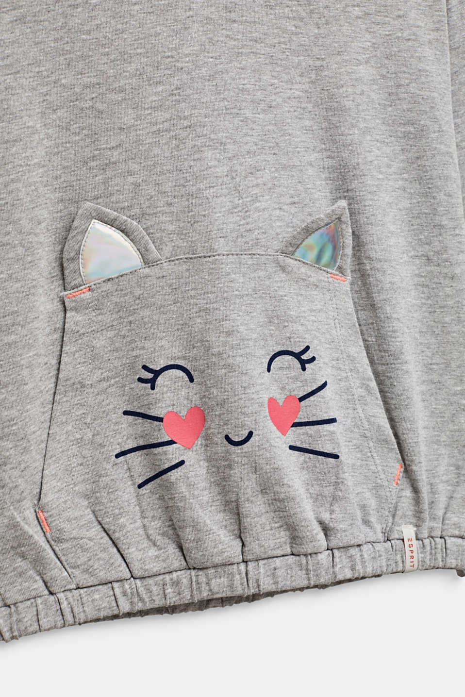 T-Shirts, LCMID HEATHER GR, detail image number 2