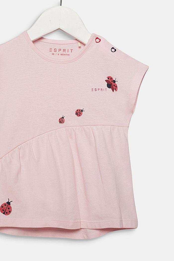 Camiseta con mariquitas brillantes, 100% algodón, LIGHT PINK, detail image number 2