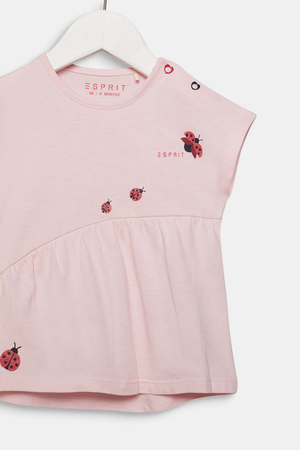 Top with glittery ladybirds, 100% cotton, LCLIGHT PINK, detail image number 2