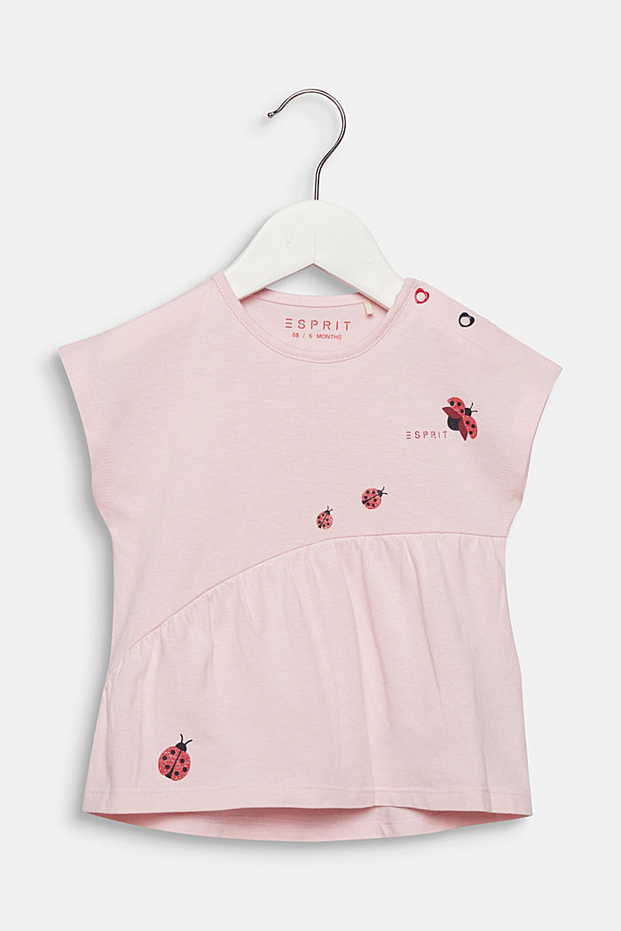 Camiseta con mariquitas brillantes, 100% algodón, LIGHT PINK, detail image number 0