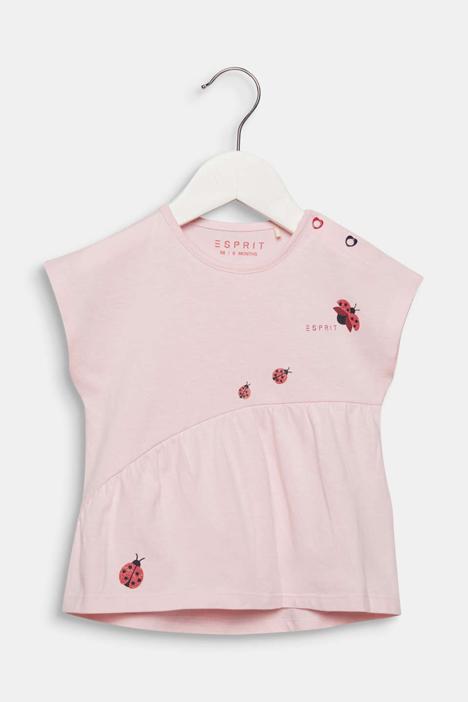 Top with glittery ladybirds, 100% cotton, LCLIGHT PINK, detail image number 0