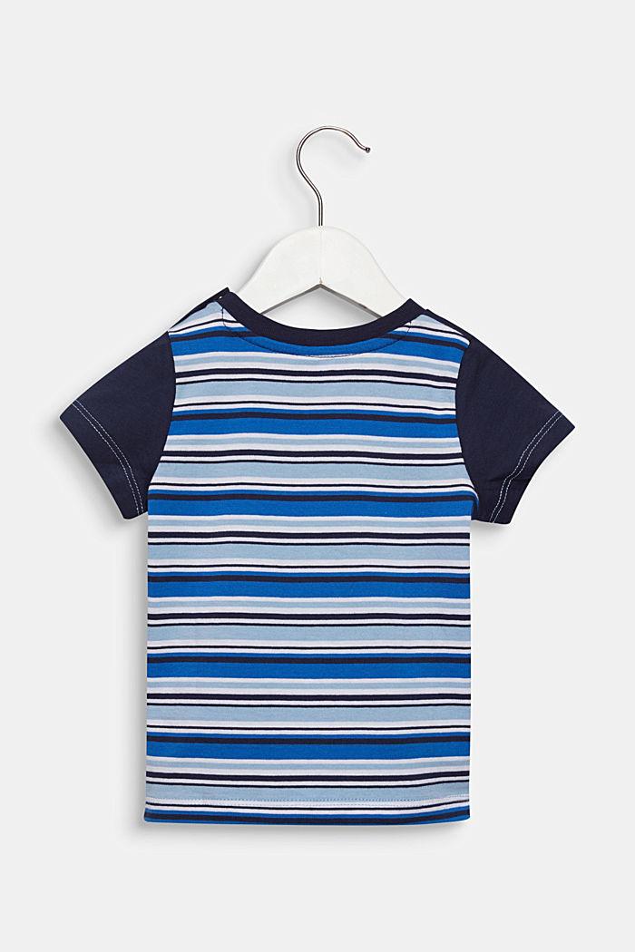 T-Shirt mit Multicolor-Streifen, 100% Baumwolle, LIGHT BLUE, detail image number 1