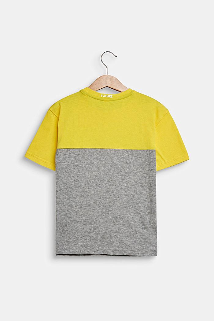 Color Block-T-Shirt mit Augen, MID HEATHER GREY, detail image number 1