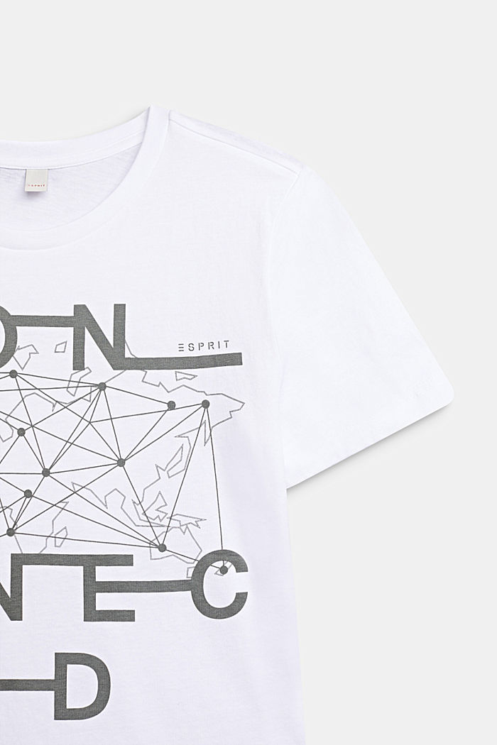 Print T-shirt in 100% cotton, WHITE, detail image number 1