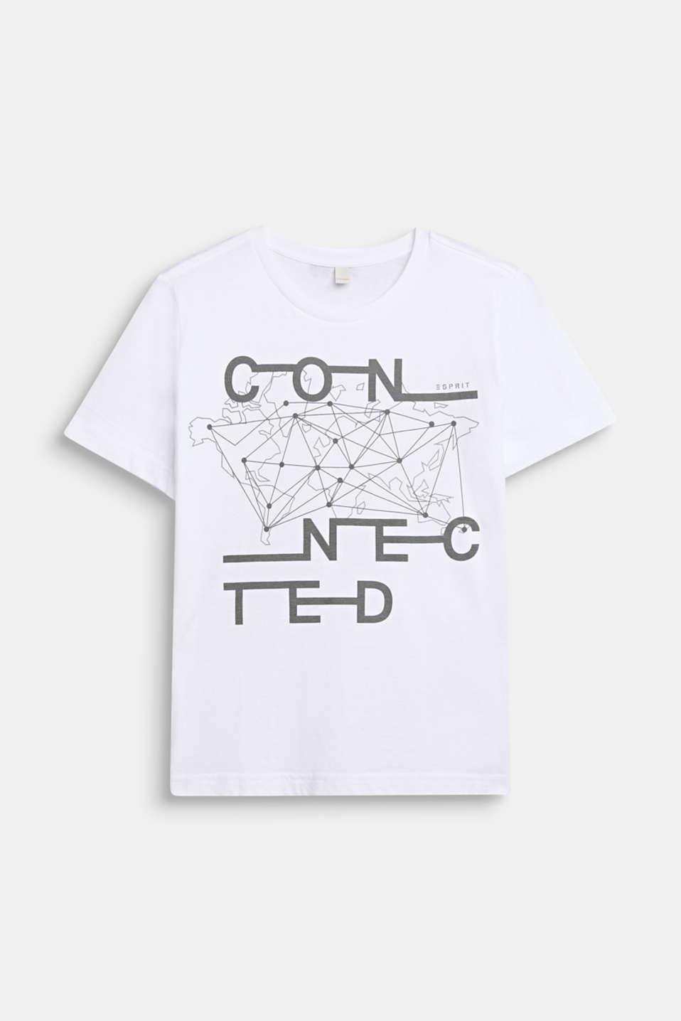Esprit T shirt i 100% bomuld med print i Esprits Online Shop