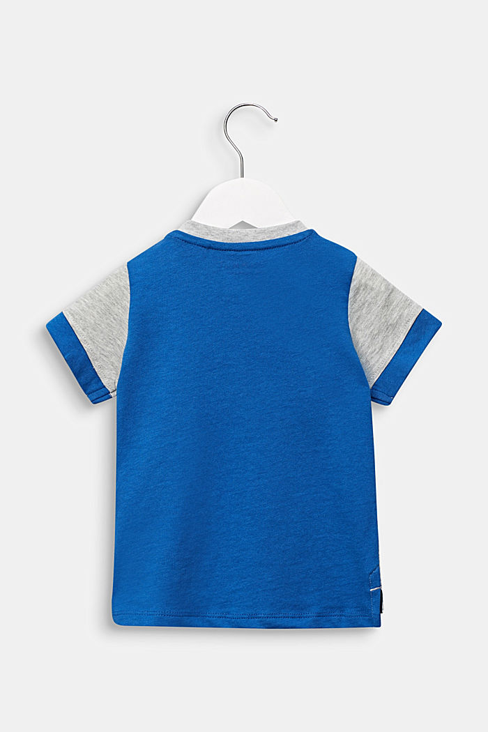 Colour block T-shirt with a print, HEATHER SILVER, detail image number 1