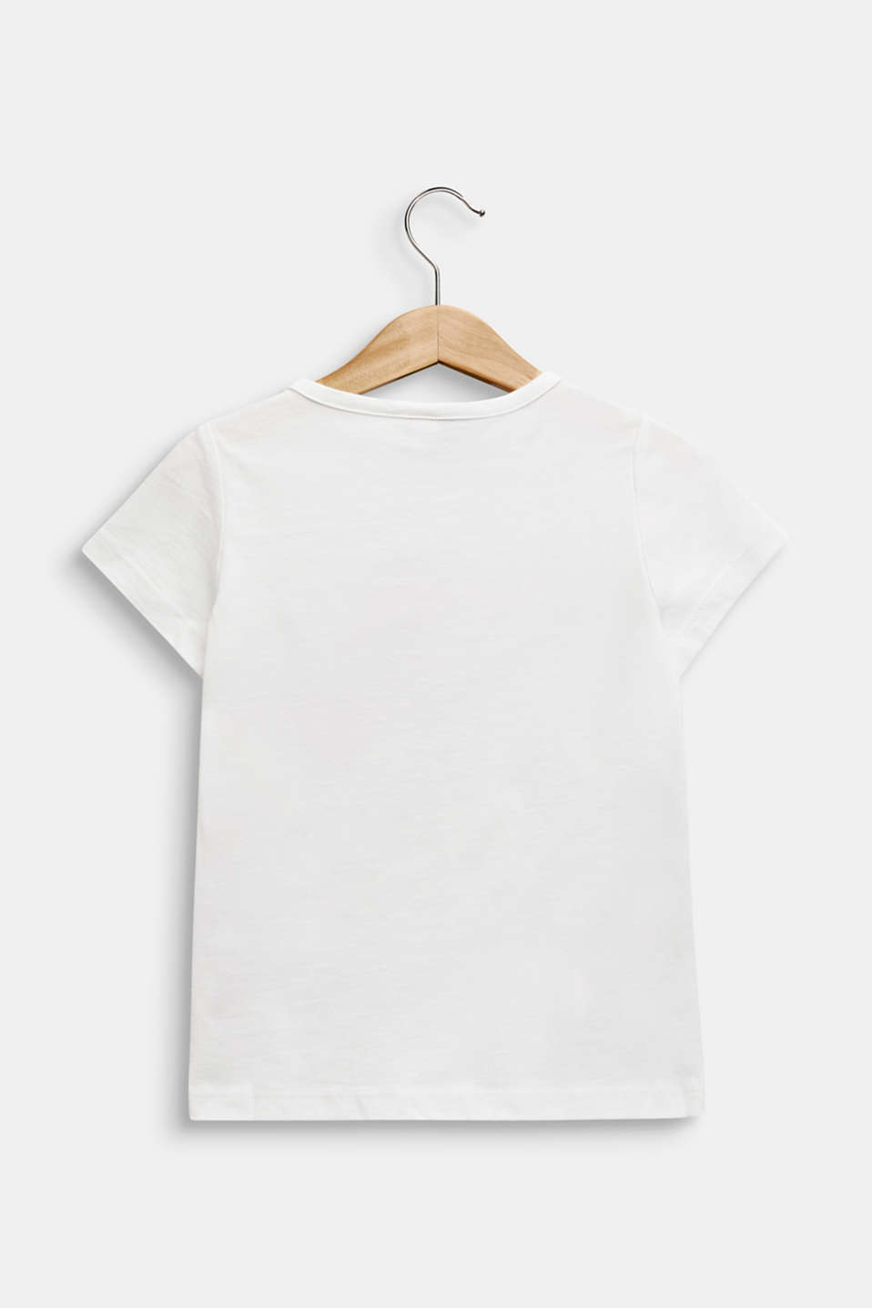 100% cotton T-shirt with reversible sequins, OFF WHITE, detail image number 1