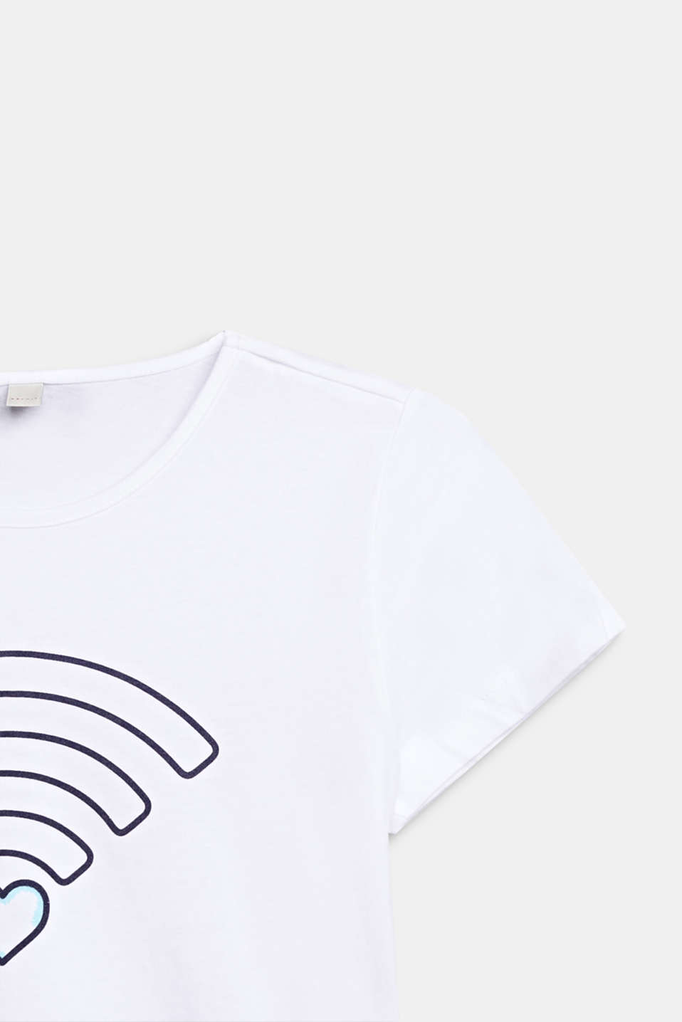 T-shirt with a WiFi print, 100% cotton, LCWHITE, detail image number 2