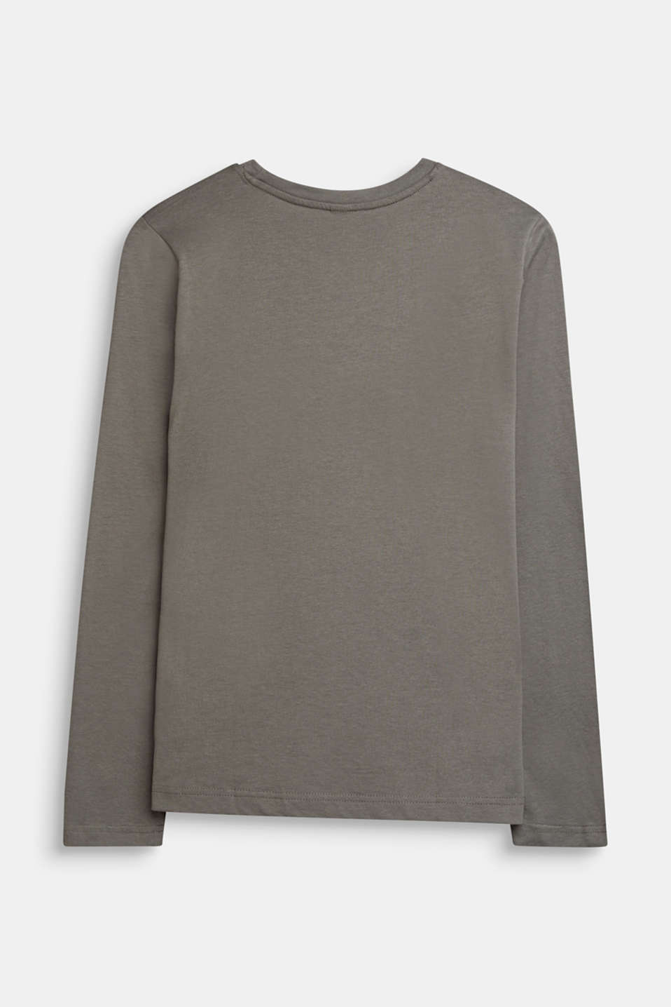 Statement long sleeve top, 100% cotton, LCKAKI, detail image number 1