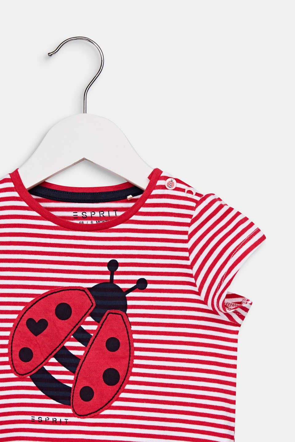 T-shirt in a ladybug look, LCRASPBERRY, detail image number 2