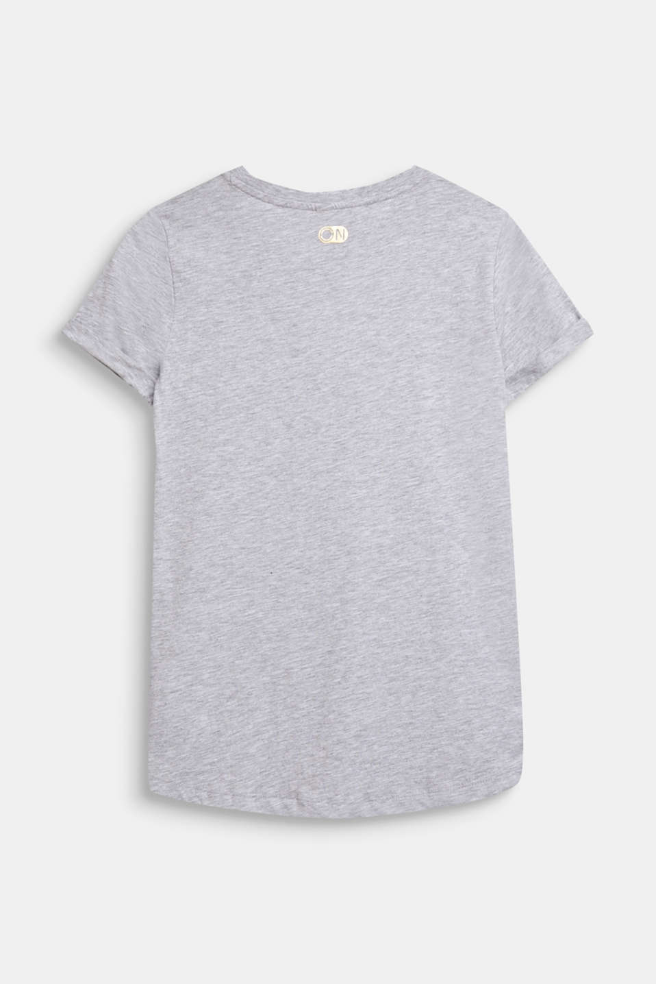 Mottled T-shirt with a breast pocket, LCHEATHER SILVER, detail image number 1