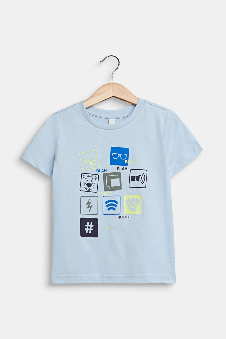 T-shirt with a front print, SKY BLUE, detail image number 0