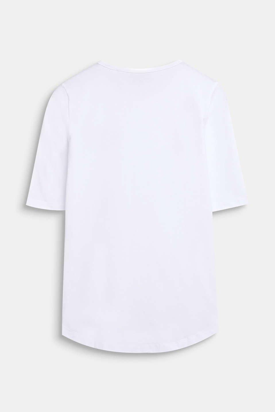 T-shirt with WiFi embroidery, stretch cotton, LCWHITE, detail image number 1
