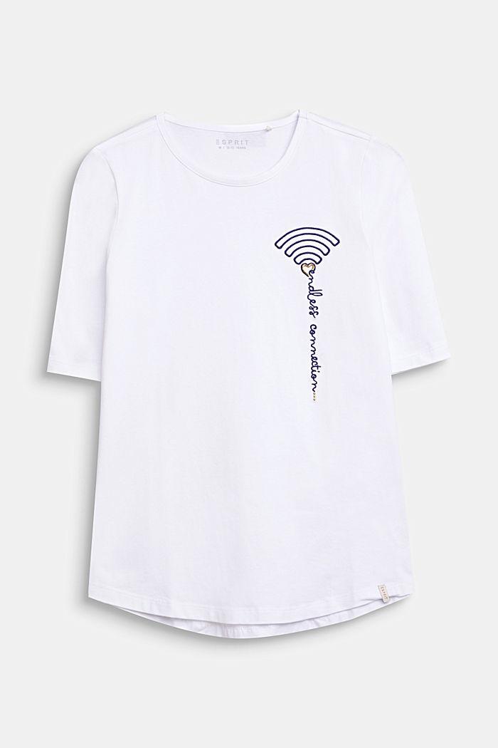 T-shirt à broderie Wi-Fi, coton stretch