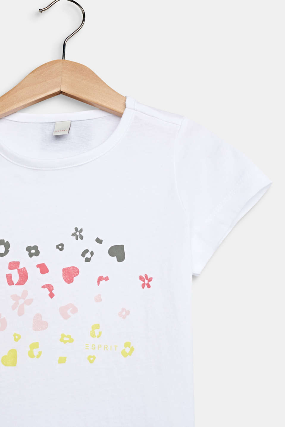 Printed T-shirt with glitter, 100% cotton, WHITE, detail image number 2
