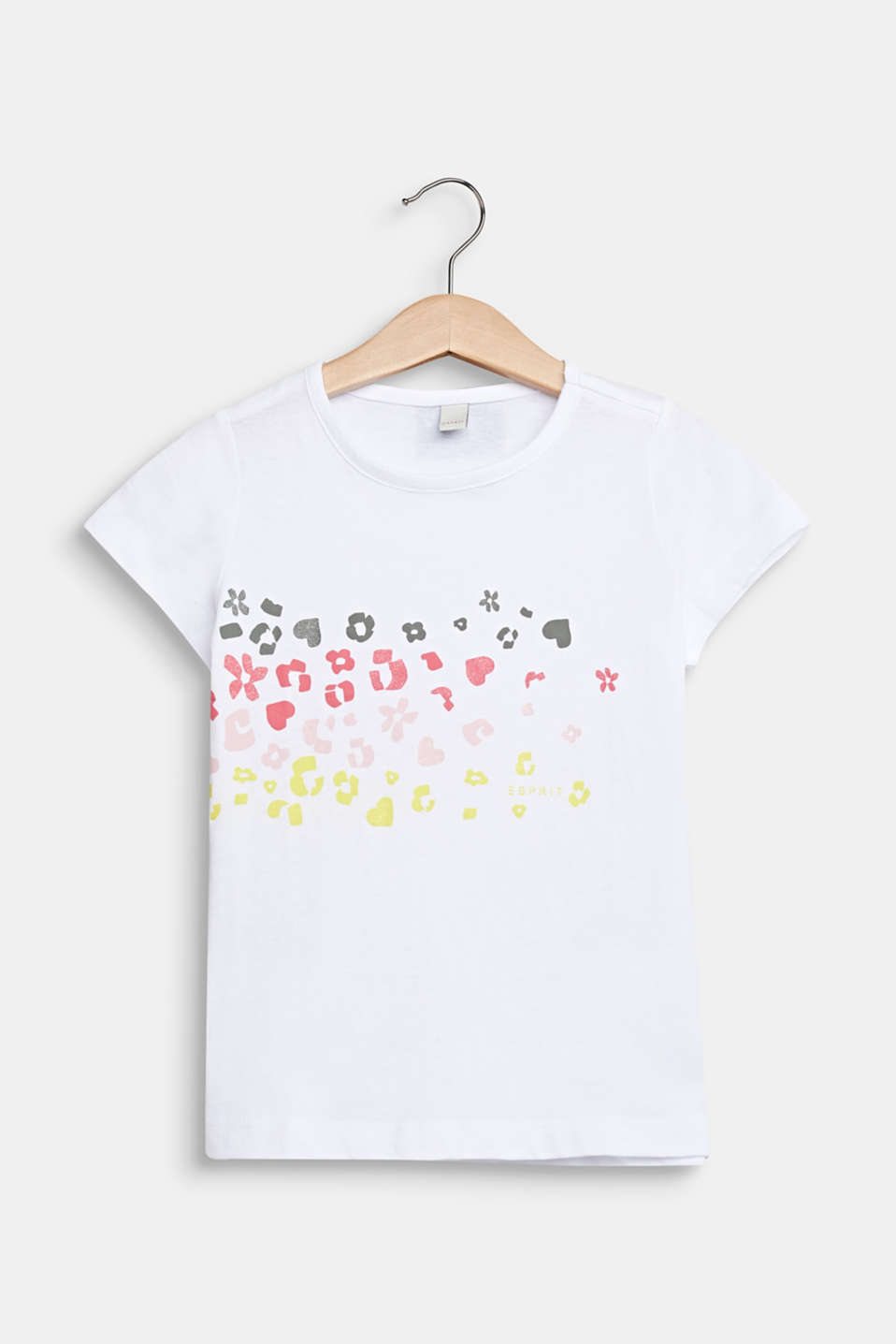 Printed T-shirt with glitter, 100% cotton, WHITE, detail image number 0
